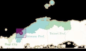 石見神楽のエリアマップ