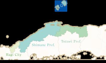 国賀海岸のエリアマップ
