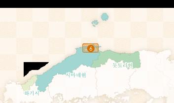 松江堀川遊覧船のエリアマップ