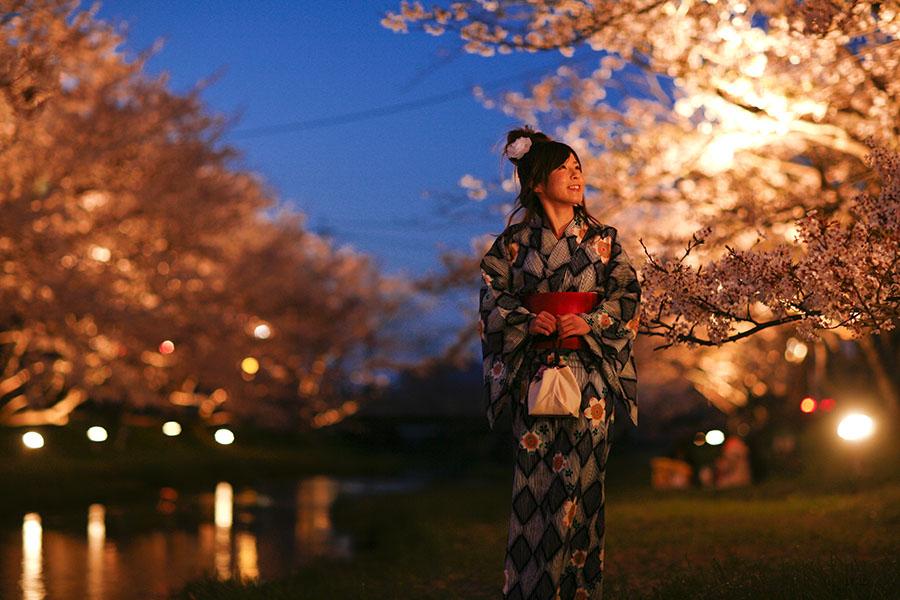 玉湯川の桜