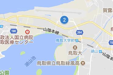 鳥取砂丘コナン空港のマップ
