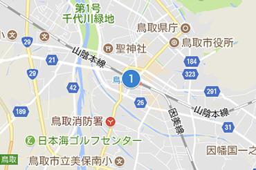 JR鳥取駅のマップ