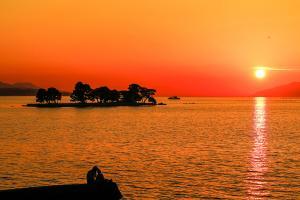 (14) 宍道湖の夕日